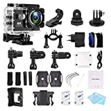 DMG WiFi Action Camera Waterproof Sports Helmet Cam with Mounting Accessories Kit (4K Ultra HD)