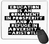 vbndfghjd 763 Gaming Mouse Pad länglich geformte Mauspad 11,81 X 9,84 Zoll inspirierende Zitat Motivation Typografie Einladung Grußkarte Sweatshirt Druck Stickerei handschriftlich
