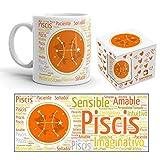 Kembilove Taza de Desayuno Horóscopo de Piscis – Taza de café de Signo del Zodiaco Piscis – Tazas de Café y Té Horóscopo Leo – Regalo Original para Parejas, Amigos, Familiares, Cumpleaños