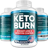 Keto Diet Pills with Pure BHB Exogenous Ketones - Effective Keto Burn Made in USA - Advanced Keto Supplement for Ketosis Support - Rapid Keto Weight Loss Pills for Energy Boost & Fat Burn - Keto BHB