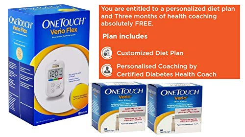 OneTouch Verio Flex meter with 20 Free Strips and Diabetes Counseling Package