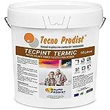TECPINT TERMIC de Tecno Prodist - (14 Litros) Pintura interior al agua, con aislante térmico y acústico - Antihumedad - Paredes y Techos - Super blanco - Fácil Aplicación - Sin olor (BLANCO)