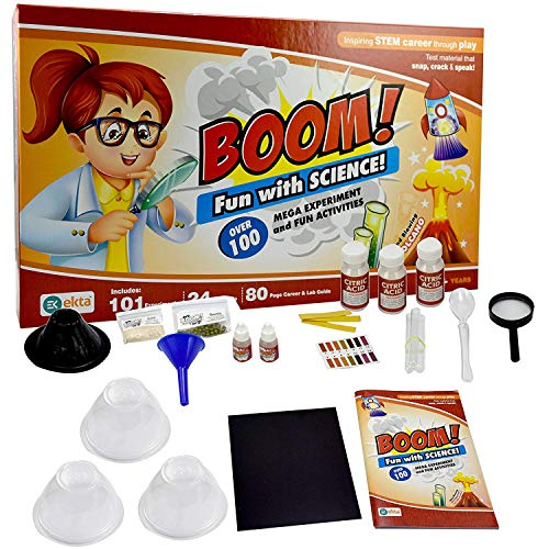 Skee Boom Fun with Science | Science lab Kit | 101 Experiments Inside | 24 lab Tool | 80 Page Career and lab Guide | 8 + Year Children
