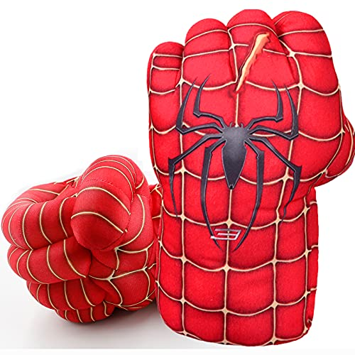 Superhero Boxing Gloves Kids Plush Hands Fists Gloves Toys Red