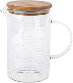 300ML Glass Mug With Transparent Heat Resistant Household Handle Glass Cup With Lid And Ladder