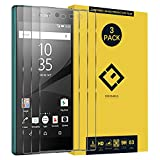 CENTAURUS Replacement for Sony Xperia Z5 Screen Protector,(3 Packs) Anti-Fingerprint Anti-Scratch High Transparency Hardness Shatter Proof Tempered Glass Protective Film