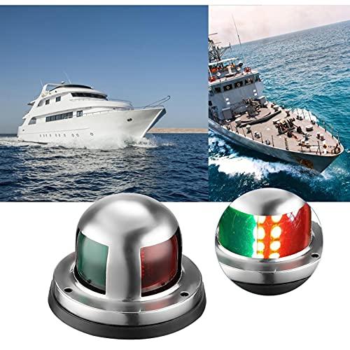 12 V, luci a LED per barca, navigazione, in acciaio inox, impermeabile, per navigazione, marino, barca, con LED rosso e verde, per barca, pontoon, yacht sckeeter
