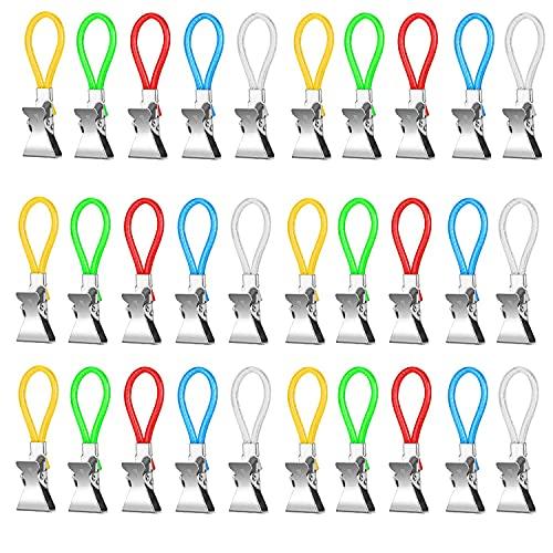 Nuyoah Aufhänger für Handtücher Handtuchclips 30Stk Handtuchhalter-Clips Handtuch-Haken Geschirrtücher Klemmhaken Multifunktions Topflappen Clips Metall für Bad Kücher Balkon usw