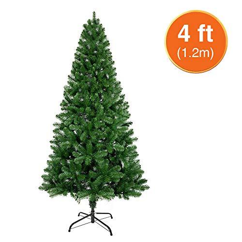 ANSIO Albero di Natale 4ft / 1.2M Alberi di Natale Artificiali Supporto in Metallo 100% Vergine ignifugo Puntali in PVC