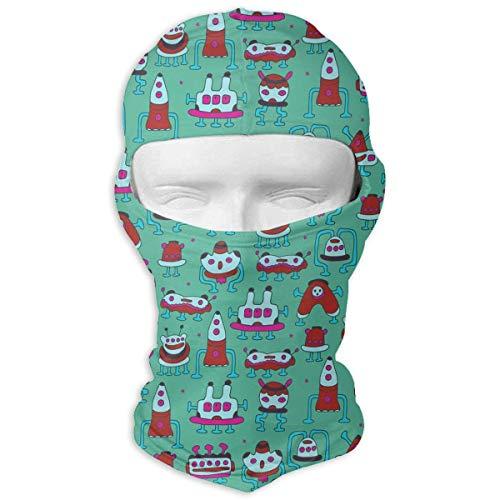 Wfispiy Biking Face Mask Balaclava UV Protecting Outdoor Sports Mask Fantastic Colorful Aliens Robots Planet Men Women
