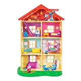 Peppa Pig 22-Inch Family Home Interactive Feature Playset with Peppa Pig, George, Zoe Zebra, 13 Accessories, 7 Rooms, Lights, Sounds, and Phrases