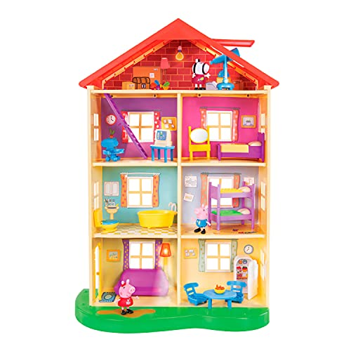 Peppa Pig 22-Inch Family Home Interactive Feature Playset with Peppa Pig,...