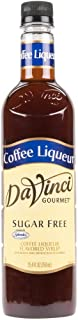 Da Vinci Sugar-Free Coffee Liqueur Syrup, 750ml Plastic Bottle
