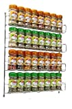 Neo® 32pc Chrome 4 Tier Spice Rack Jar Holder for Wall or Kitchen Cupboard
