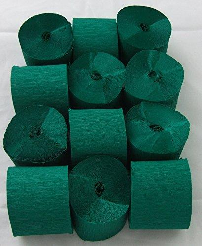 12 Verde Oscuro. Papel crepé serpentinas 45mm x 10metros. 14 colores vibrantes siempre en stock