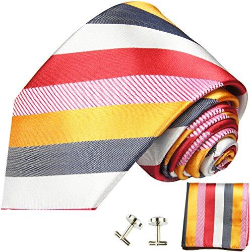 Cravate homme multicolore rayée ensemble de cravate 3 Pièces ( longueur 165cm )