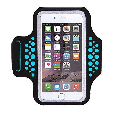 HAISSKY Schweißfest Sportarmband Handy Laufen Sport Handytasche Handyhalterung Mit Schlüsselhalter/Kabelfach/Kartenhalter für iPhone XS/XR/X/8 Plus,Galaxy S9/S8/S7 Plus Edge,Huawei P10 Mate Xiaomi