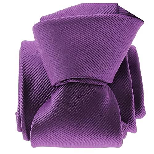 Clj Charles Le Jeune. Cravate. Monochrome, Microfibre. Violet, Uni.