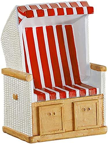 wunderschöne Hochzeitskasse Urlaubskasse,Reisekasse Spardose Sparbüchse Strandkorb in rot/weiß gestreift mit Gummistopfen