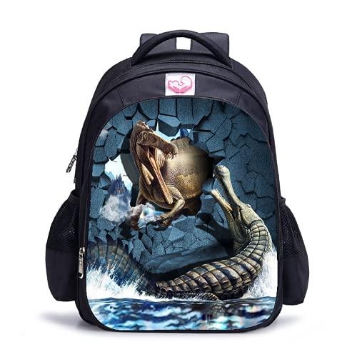Jurassic Park - Mochilas de dinosaurios para escuela, bolsa de almuerzo, 05., L,