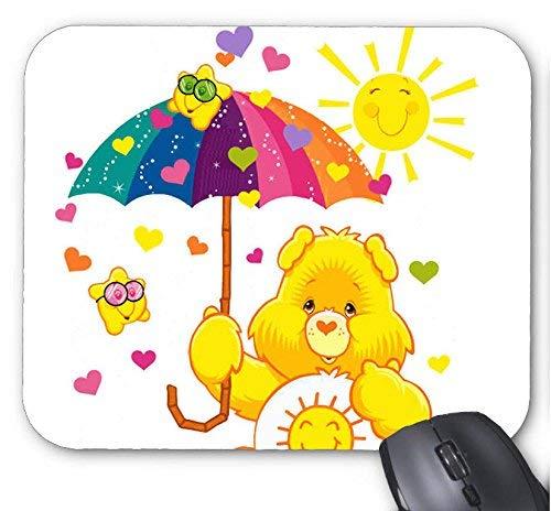 Maus matte sonne regenbogen regenschirm mit bär mauspad