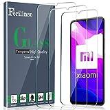 Ferilinso Compatible con Cristal Templado Xiaomi Mi 10 Lite 5G Protector de Pantalla [Supercobertura],[3 Pack] Caja de Vidrio Templado Amigable al Tacto Precisa Fácil Instalación sin Burbujas.