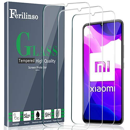 Ferilinso Vetro Temperato per Xiaomi Mi 10 Lite 5G Pellicola Vetro [Super Copertura],[3 Pack] Vetro temperato Caso Amichevole Troppo Preciso Installazione Facile Senza Bolle.