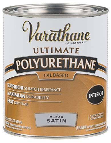 Rust-Oleum 9141H Oil Polyurethane, 1 Quart, Satin Finish