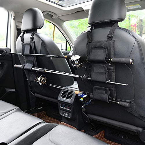 Fishing Rod Holder Adjustable Polyester Strap Combined Fishing Rod Bracket for Vehicle/Ship Rear Seats, Vehicle Fishing Pole Storage Rack for SUV Wagons Van