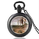 Classico Christian Jesus Cross Vintage Quarzo Pocket Watch Glass Dome Uomini Donna Collana Pendente Ore Orologio Migliori Regali