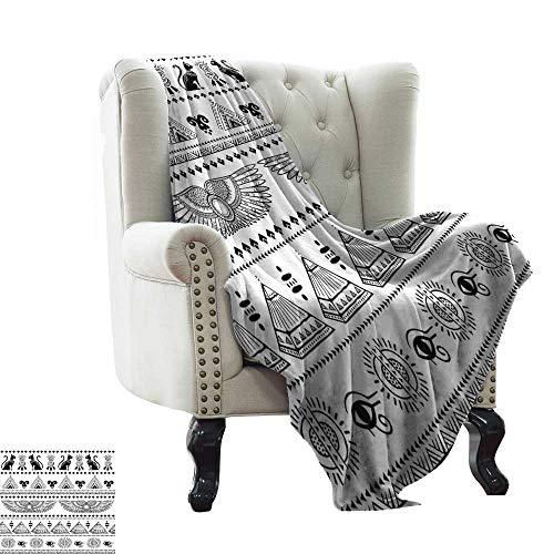 LsWOW bank deken Egyptische, Egyptische Papyrus afschrikken koningin Nefertari het maken van een aanbod aan Isis Image Print,Multi kleuren Gezellige hypoallergeen, gemakkelijk te dragen deken