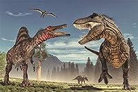 2000個の木製大人のパズル、減圧レ組み立てゲーム、最高のホリデーギフト- 恐竜(75*105cm)