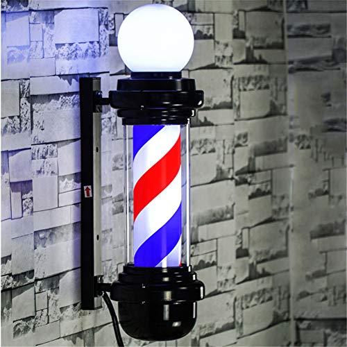 Vintage Poteau De Coiffeur Salon, Vintage Poteau De Coiffeur Salon LED Salon De Coiffure Tourner La Lampe Salon De Coiffure Signe Lampe Salon,220v