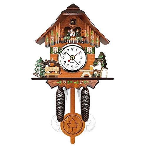 LZLXX Reloj de Cuco Reloj de Bosque Reloj de Abuelo Retro de