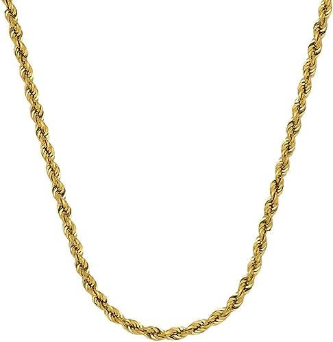 Esperando por ti Pulsera de cadena de de de oro amarillo de 14 quilates con cierre de mosquetón de 4,9 mm.  descuento de ventas