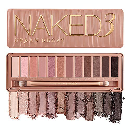 Amazon.com : Urban Decay Naked3 Eyeshadow Palette, 12 Versatile Rosy Neutral Shades for Every Day - Ultra-Blendable, Rich Colors with Velvety Texture - Set Includes Mirror & Double-Ended Makeup Br...