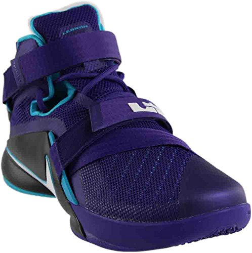 Nike Mens Lebron Soldier IX Court Purple/White/Blk/Bl Lgn Basketball Shoe 9.5 Men US