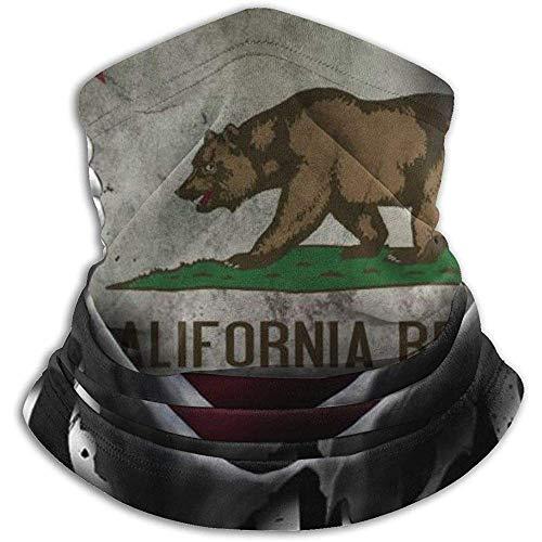Caldera de Oso histórico de California Pull Apart Neck Warmer Cuello de Invierno Polaina Mascarilla