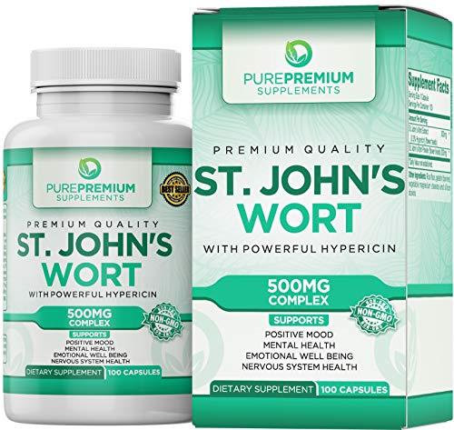 Premium St Johns Wort Capsules (Non-GMO & Gluten-Free)
