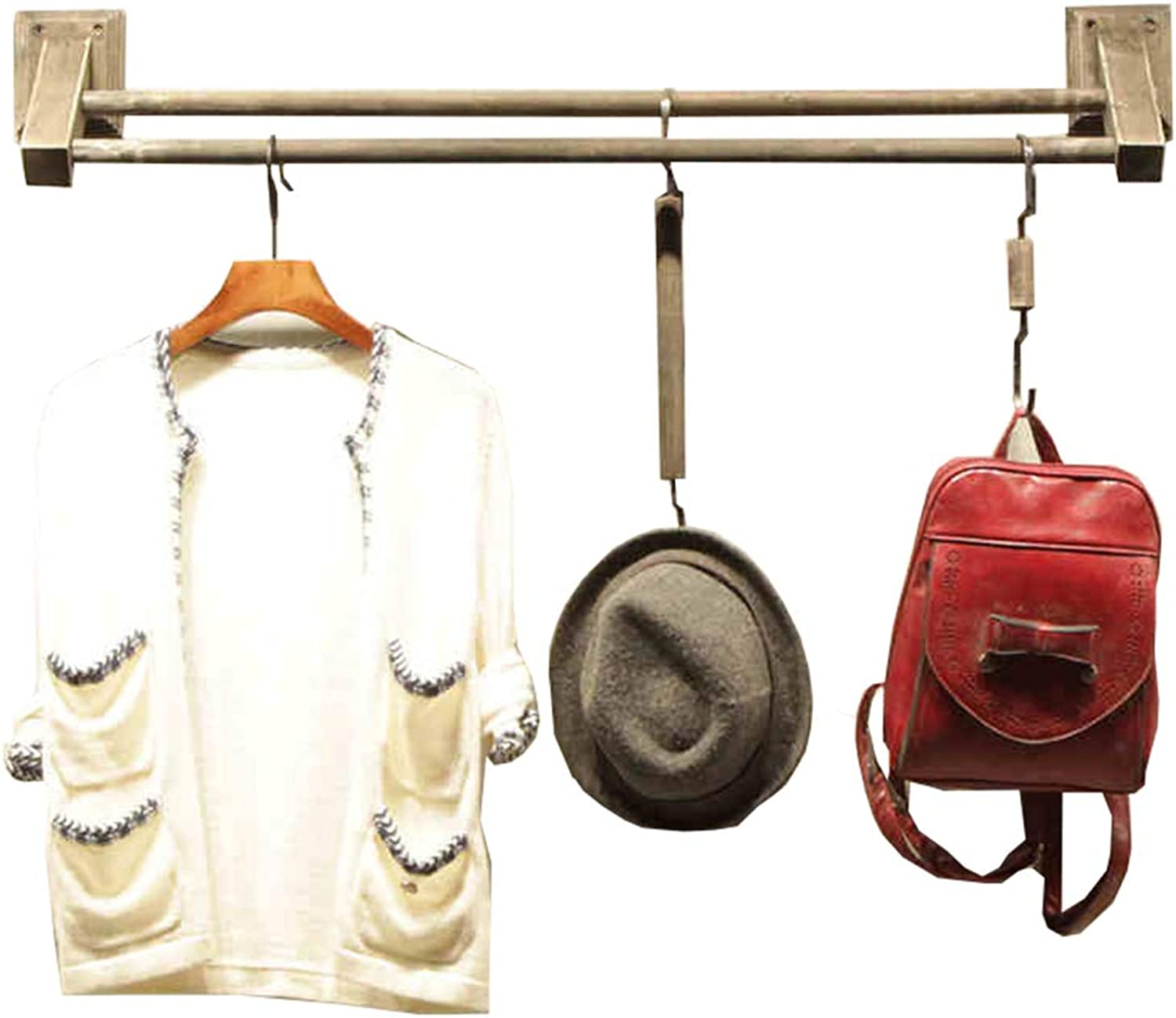 LAXF- Coat Racks Free Standing Wooden Wooden Wall Mounted Clothes Hanging for Home Clothing Store,Racks Display Stand,Wall Shelf,Display Shelves,Clothing Rack (Size   60CM)