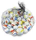 Neez Mármoles, Mármoles de Vidrio, Bolas de Cristal, Perlas de Vidrio con Dibujos de Colores para Niños 40/50/100/200/400 Piezas (Paquete de 100 canicas)