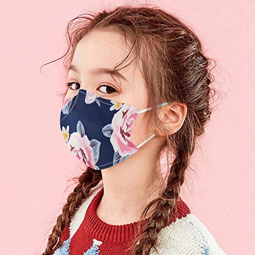 Lowest Prices! WOSLAFENS 【US Stock】 Face Bandanas for Kids, 1PC Kids Children Outdoor Cotton Mou...