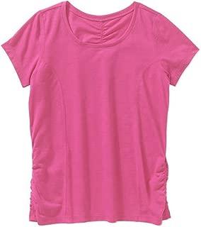 Danskin Now Girls' Shirred Active Tee T-Shirt (7/8, Pink Romance)