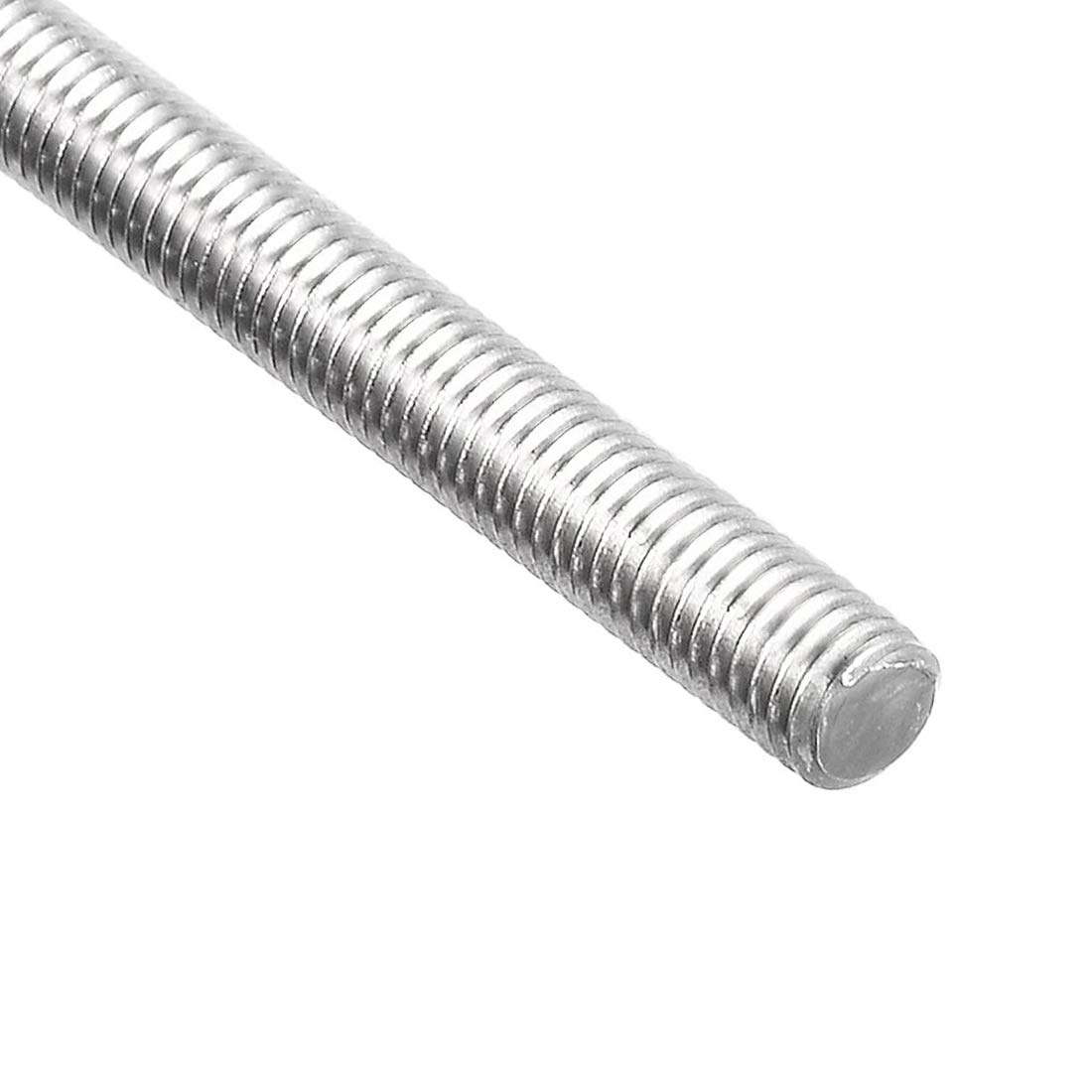 STAINLESS STEEL M2  2mm THREADED BAR STUDDING ROD NYLOCK NUTS 50mm LONG