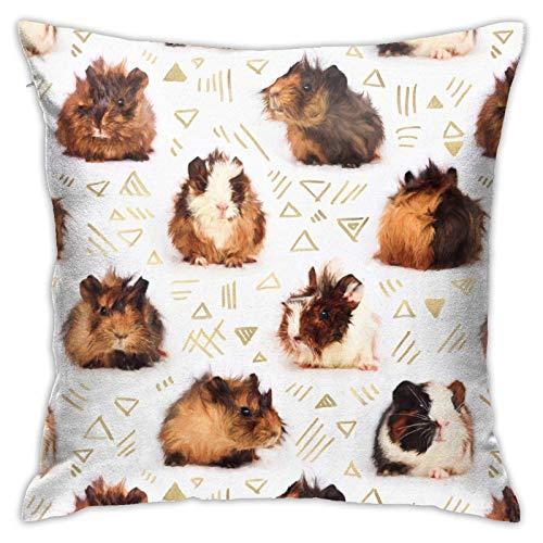 Kissenbezug mit Meerschweinchen-Motiv, Baumwolle, Polyester, Kissenbezug für Sofa, Heimdekoration