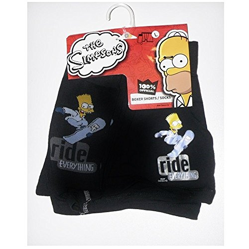 Juego de boxer y calcetines Bart The Simpsons multicolor XL