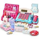 HERSITY Cash Registers Toy Supermarket Till with Scanner Pretend Make up Set Princess