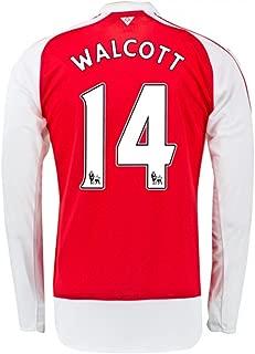 UKSoccershop 2015-16 Arsenal Home Long Sleeve Shirt (Walcott 14)