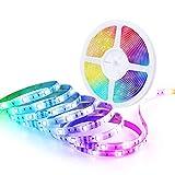 Minger 5 Metros Tiras LED de Luces Kit Completo, Impermeable Multicolor Control Remoto de 44 Botones Mando a Distancia, Perfecto...