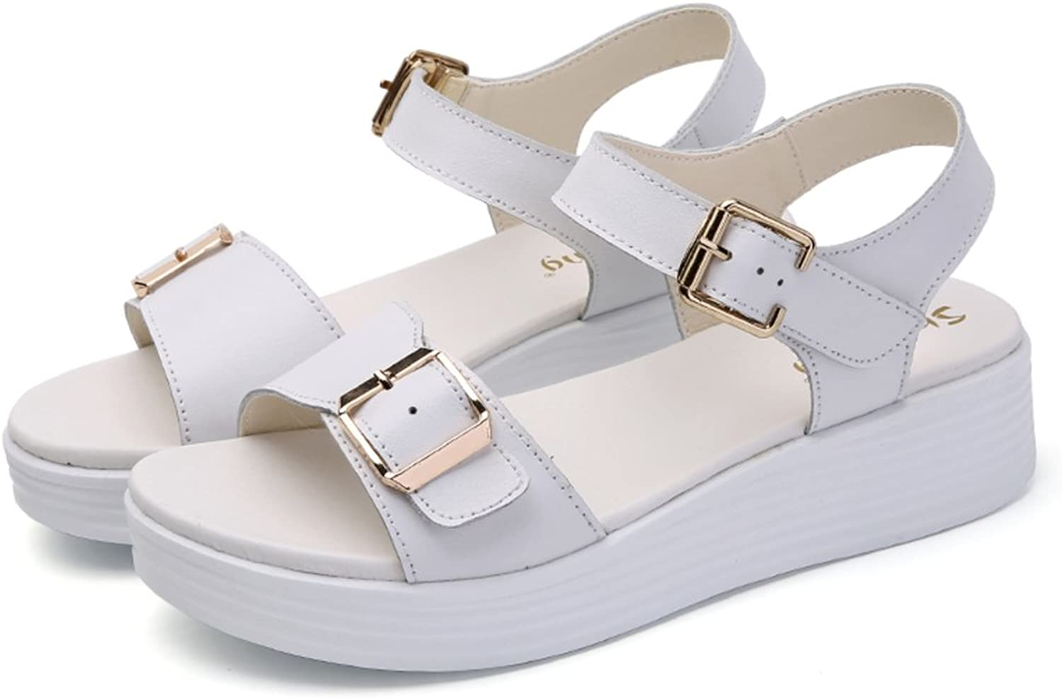 MET RXL Summer,Lady,A Word with,Thick-Soled,Casual shoes Flat,Middle Heel Sandals